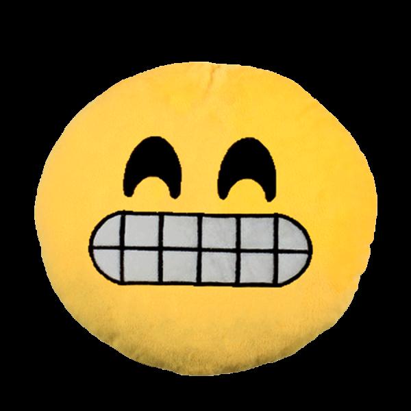 Emoji Kissen - Grinsen - Gelb