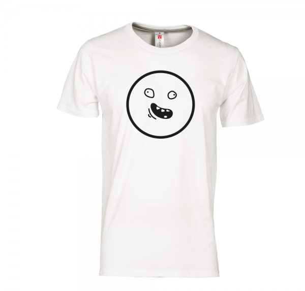 Smiley - T-Shirt - Weiss