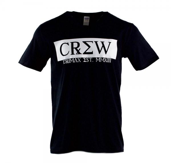 CREW - V-Neck-Shirt - Schwarz
