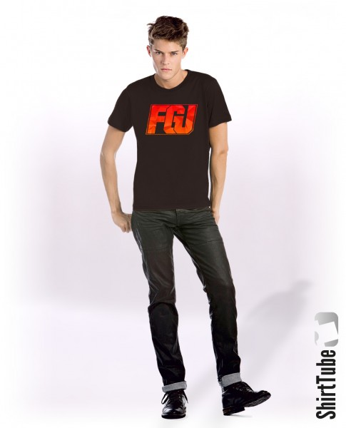 FGU rot/orange - T-Shirt - Schwarz