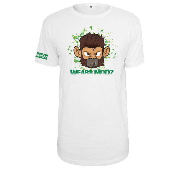 Monkey - Longshirt - Weiß