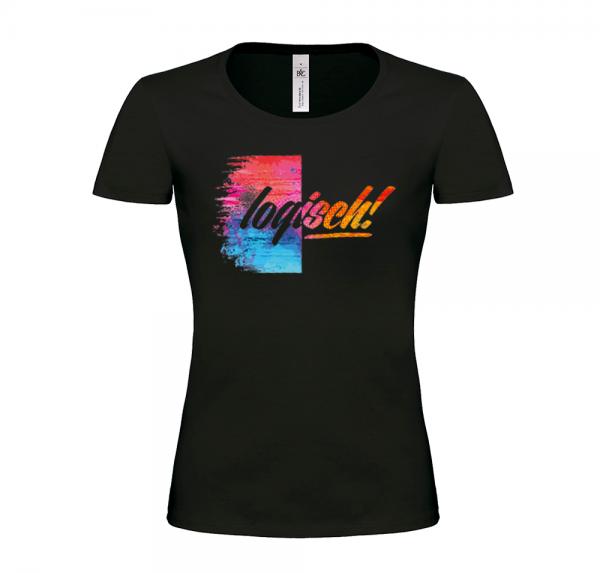 Logisch - T-Shirt Damen - Schwarz