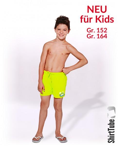 SummerFEELing - Badeshort KIDS - Neongelb