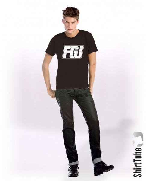 FGU weiß - T-Shirt - Herren - Schwarz