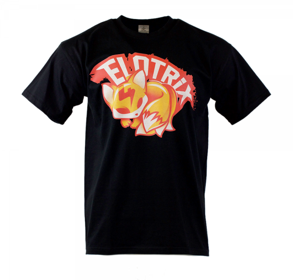 """ELoTRiX """"Red Fox"""" - T-Shirt - Schwarz"""