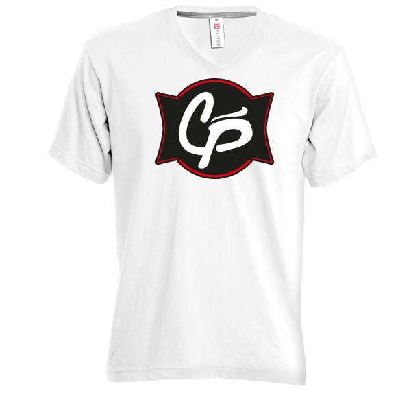 CP - V-Neck Shirt - Weiss