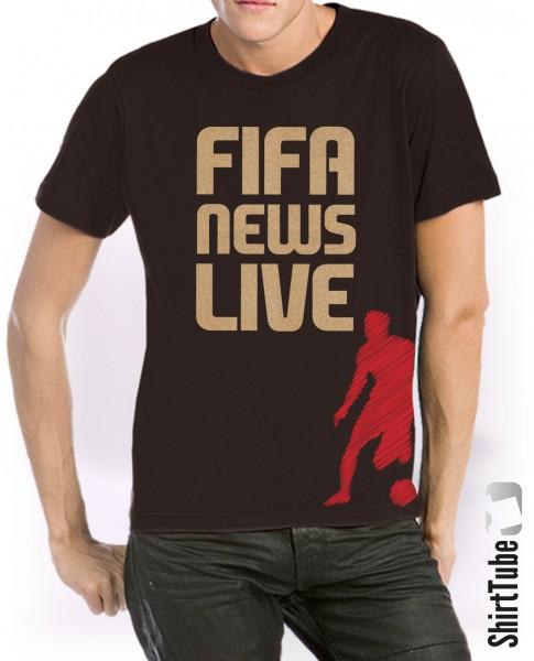 Golden Soccer Shirt - Unisex - Schwarz