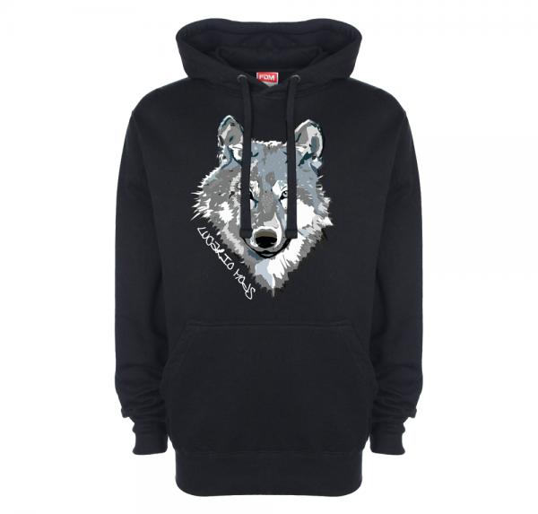 Wolf - Hoodie - Schwarz