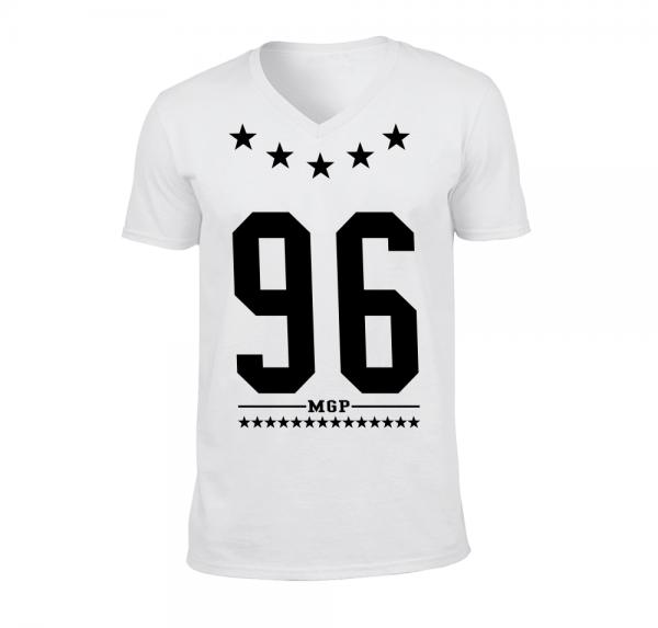 96 MGP - V-Neck-Shirt - Weiss
