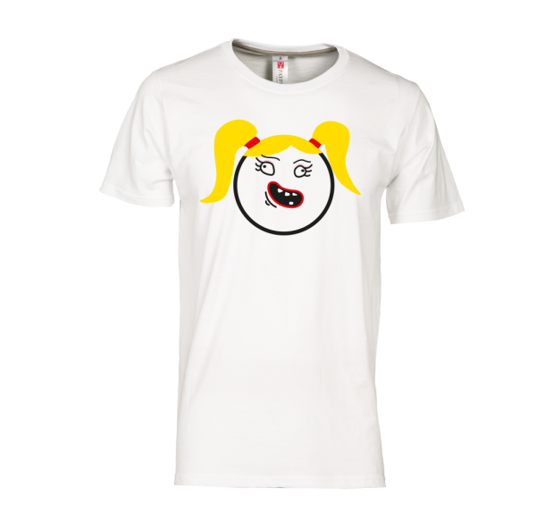 Smiley Mädel - T-Shirt - Weiss