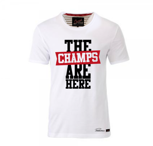 The Champs are here - Shirt mit Rollsaum - Weiss