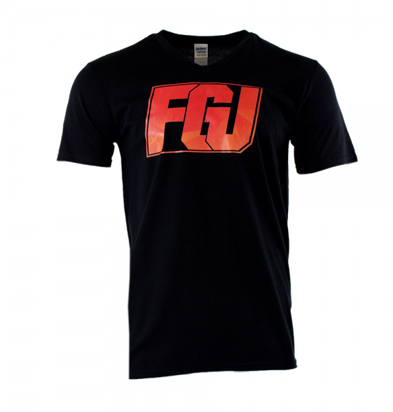 FGU rot/orange - V-Neck-Shirt - Schwarz