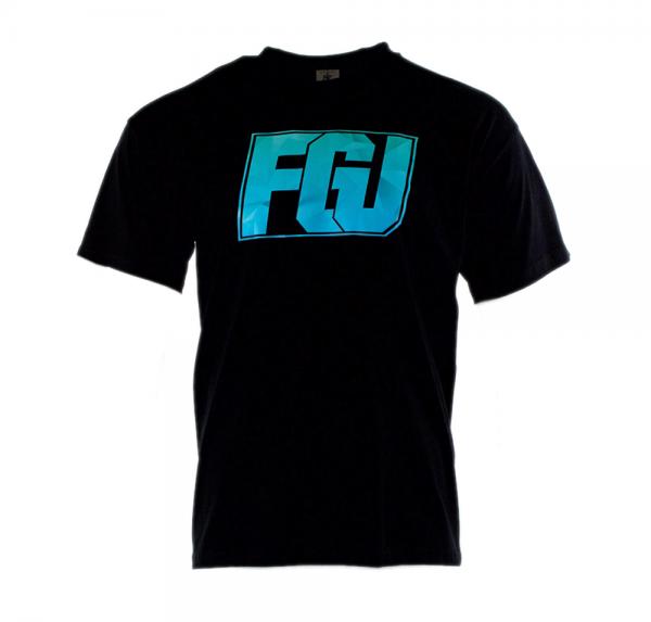FGU blau/türkis - V-Neck-Shirt - Schwarz