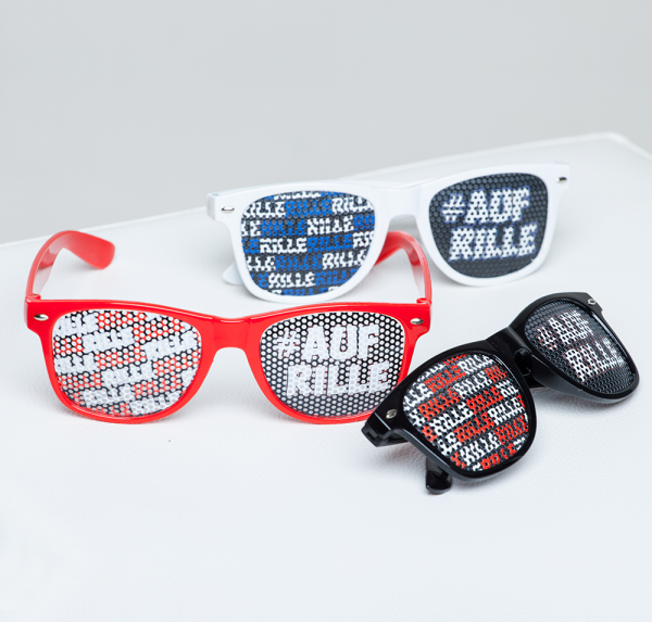 Auf Rille - Brille - versch. Farben
