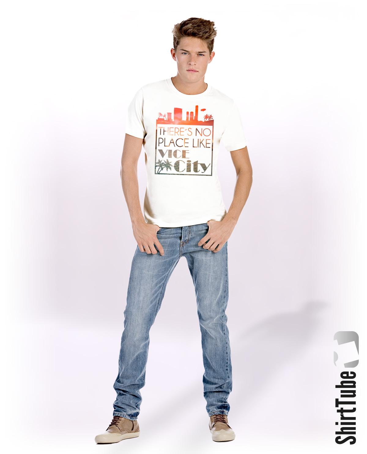 Vice City - T-Shirt - Weiss