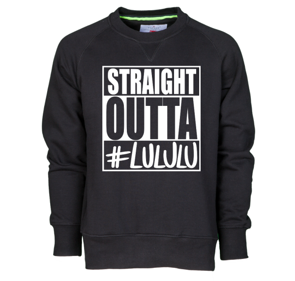 Straight Outta LULULU - Sweater - Schwarz