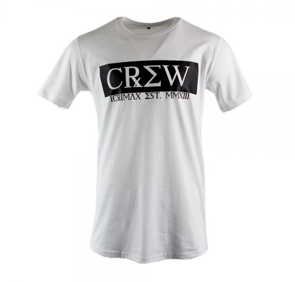 CREW - Longshirt - Weiss