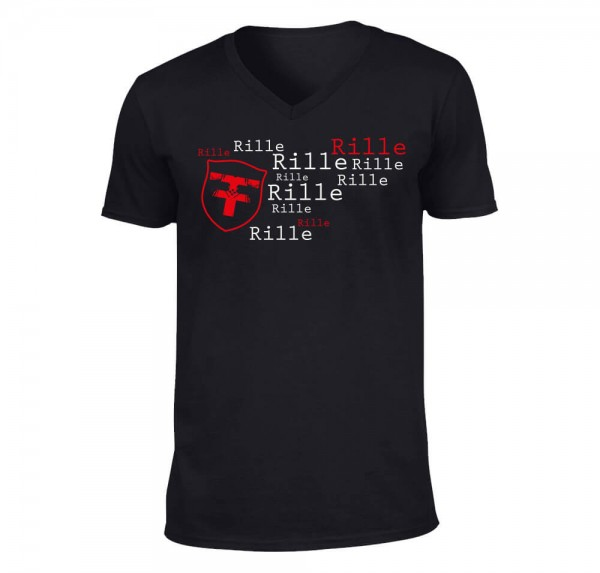 Rille - T-Shirt - Schwarz