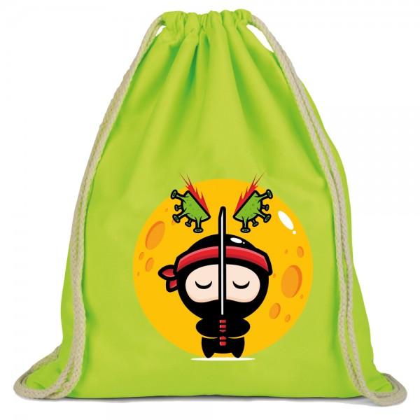 Ninja - Rucksackbeutel - Lime Green