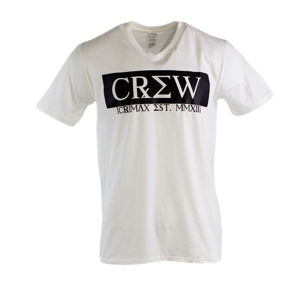 CREW - V-Neck-Shirt - Weiss | Shirt-Tube.de - Der ...