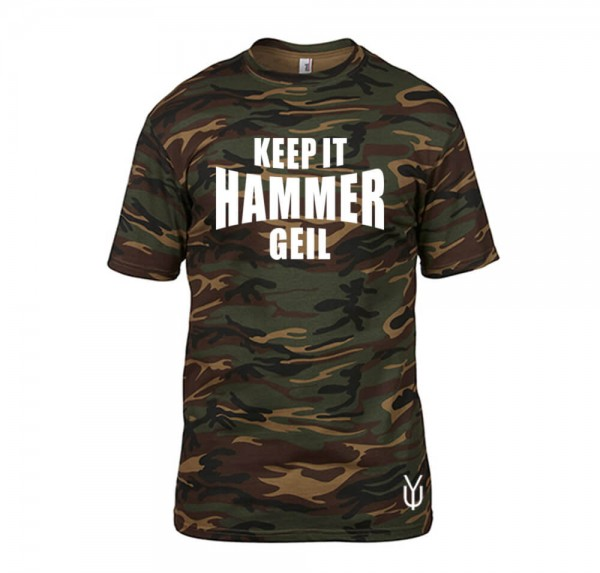 Keep it Hammer Geil - Camo-Shirt