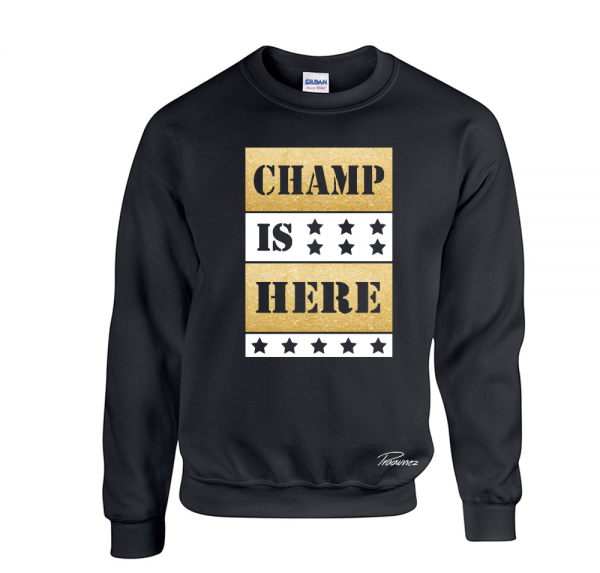 Champ is here Gold/Weiss - Sweater - Schwarz