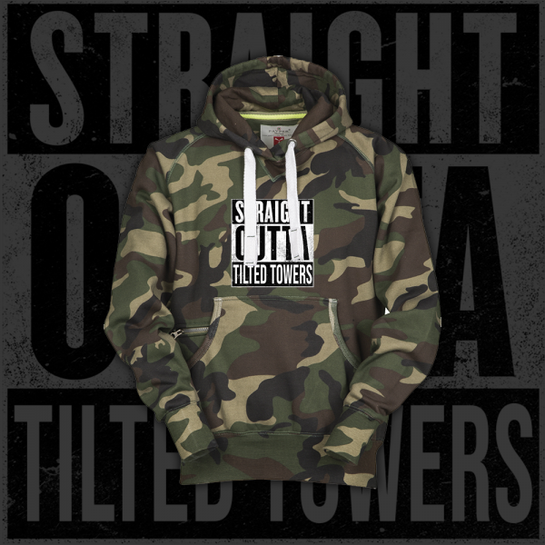 Straight Outta Tilted Towers - Hoodie - Camouflage Grün